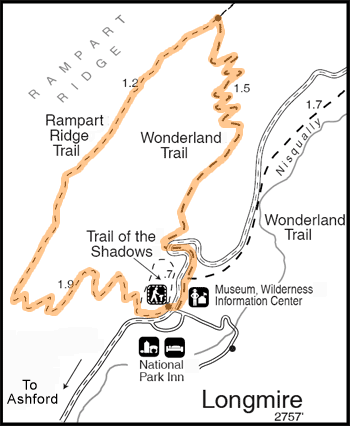 Rampart Ridge Hike Map