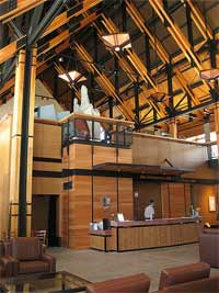 Interior of the New Jackson Visitor Center